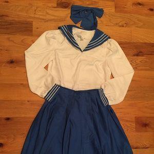 Japanese sailor schoolgirl costume adult small